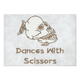 Dances With Scissors Card