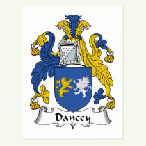 Dancey Family Crest Postcard