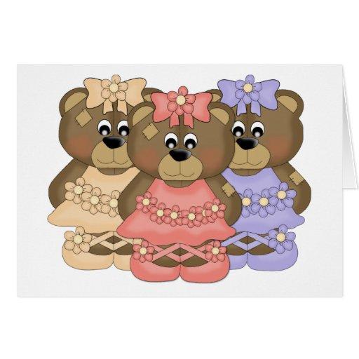 Dancin Bears Greeting Card
