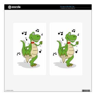 Dancin' Dino Kindle Fire Decal
