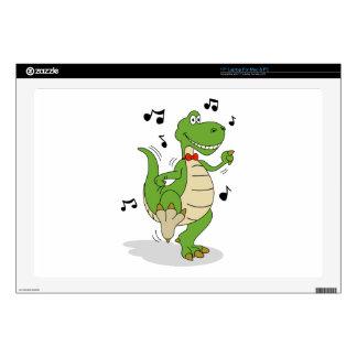 Dancin' Dino Laptop Skin