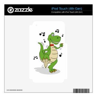 Dancin' Dino Skin For iPod Touch 4G