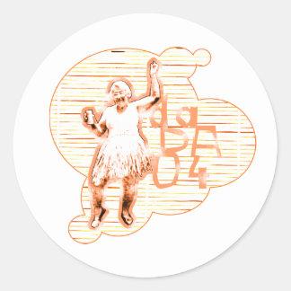 Dancin' Granny (Sticker) Classic Round Sticker