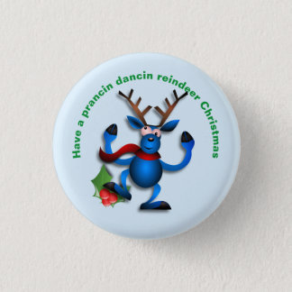 Dancin Prancin Reindeer Address Label Pinback Button