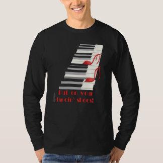 DANCIN' SHOES Black Long-Slv T-Shirt