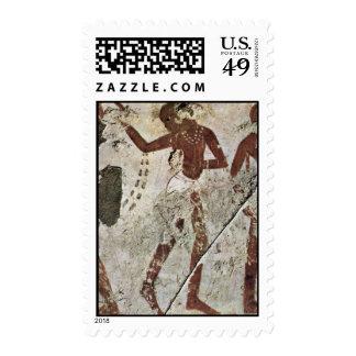 Dancing Africans By Maler Der Grabkammer Des Horem Stamp