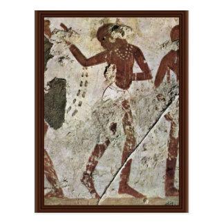Dancing Africans By Maler Der Grabkammer Des Horem Postcard