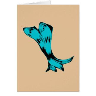 Dancing Alien Fish Card