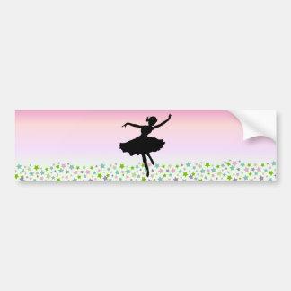 Dancing amongst the stars - pink sunset car bumper sticker