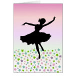 Dancing amongst the stars - pink sunset card