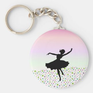 Dancing amongst the stars - pink sunset key chain