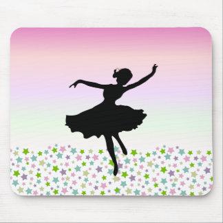 Dancing amongst the stars - pink sunset mousepad