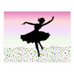 Dancing amongst the stars - pink sunset postcard