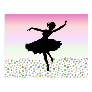 Dancing amongst the stars - pink sunset post cards
