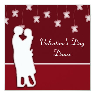 Dancing and Flowers Valentine's Invitation