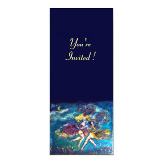 """DANCING AND MUSIC IN THE NIGHT 4"""" X 9.25"""" INVITATION CARD"""