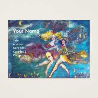 DANCING AND MUSIC IN THE NIGHT MONOGRAM BUSINESS CARD
