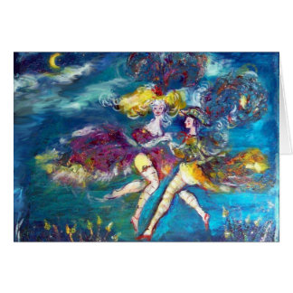 DANCING AND MUSIC IN THE NIGHT,Venetian Masquerade Greeting Cards