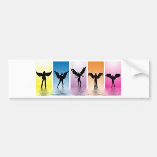 dancing angels bumper sticker