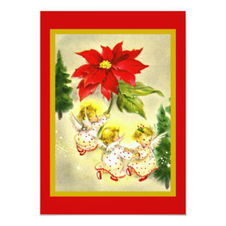 """Dancing Angels Christmas Party Invitation 5"""" X 7"""" Invitation Card"""