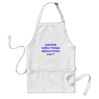 dancing adult apron
