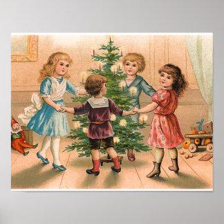 Dancing Around the Christmas Tree Poster
