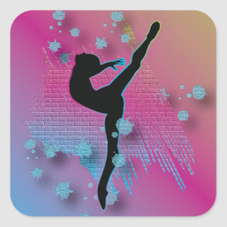 Dancing Artist Square Sticker