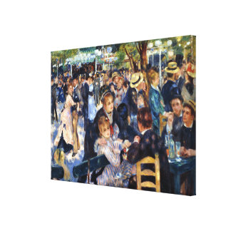Dancing at Le Moulin de la Galette Renoir Fine Art Canvas Print