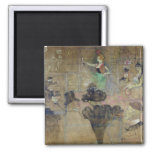 Dancing at the Rouge: La Goulue, 1895 2 Inch Square Magnet