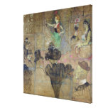 Dancing at the Rouge: La Goulue, 1895 Gallery Wrap Canvas