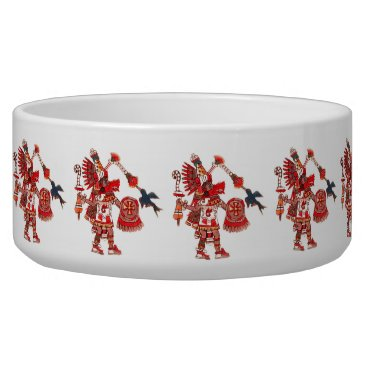 Aztec Themed Dancing Aztec shaman warrior Bowl