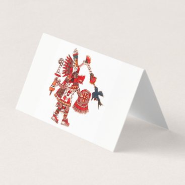 Aztec Themed Dancing Aztec shaman warrior Card