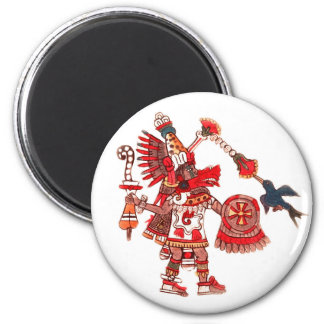 Dancing Aztec shaman warrior Magnet