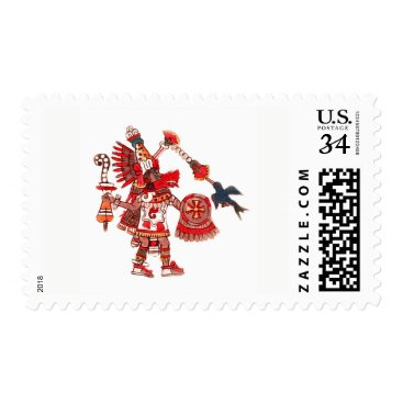 Aztec Themed Dancing Aztec shaman warrior Postage