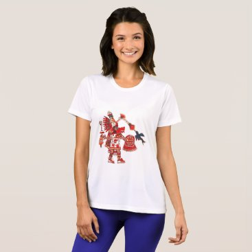 Aztec Themed Dancing Aztec shaman warrior T-Shirt