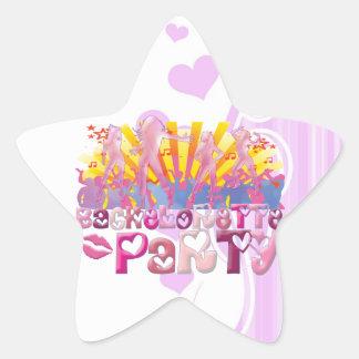 dancing bachelorette party club party retro fun star sticker