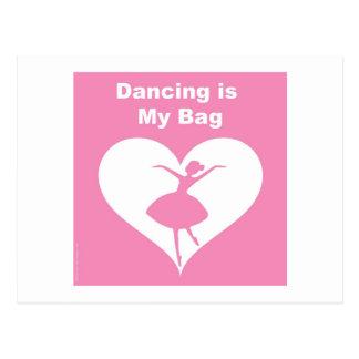 Dancing Bag Postcard