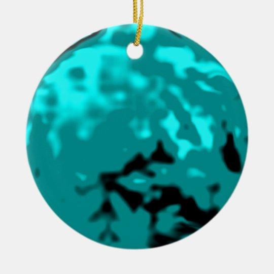 Dancing Ball Cyan Silver Trans MUSEUM Zazzle Gifts Ceramic Ornament