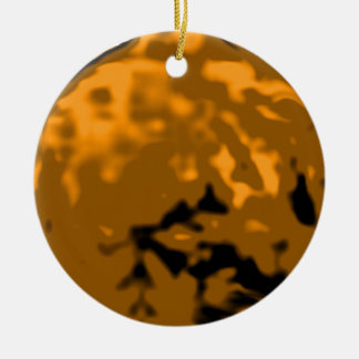 Dancing Ball Gold Orange Trans MUSEUM Zazzle Gifts Christmas Ornaments