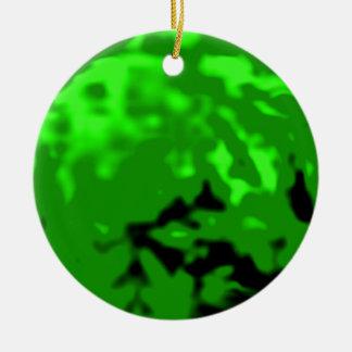 Dancing Ball Green Silver Tran MUSEUM Zazzle Gifts Ceramic Ornament