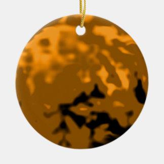 Dancing Ball Orange Cyan Trans MUSEUM Zazzle Gifts Christmas Ornaments