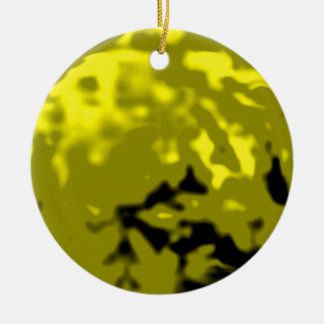 Dancing Ball Yellow Cyan Trans MUSEUM Zazzle Gifts Christmas Tree Ornaments