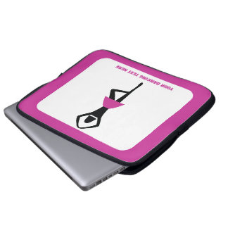 Dancing ballerina black, hot pink custom computer sleeve