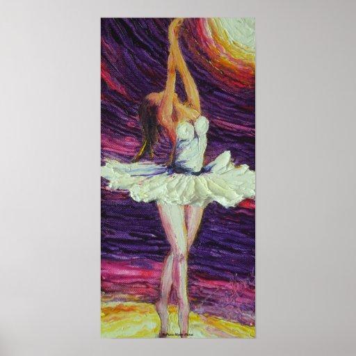 Dancing Ballerina Fine Art Poster