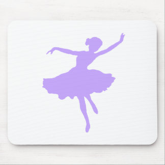 Dancing Ballerina in Lilac Periwinkle Mouse Pad