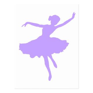 Dancing Ballerina in Lilac Periwinkle Postcard