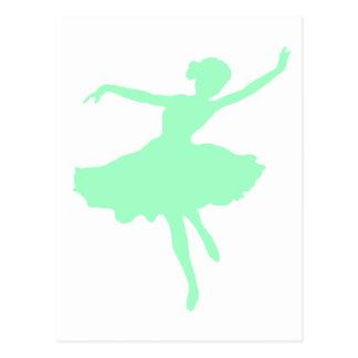 Dancing Ballerina in Pale Blue Postcard