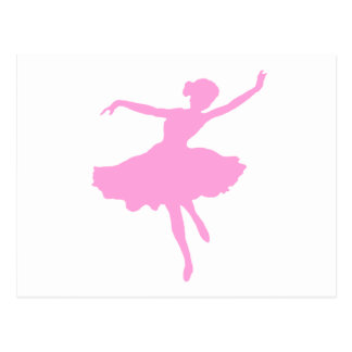 Dancing Ballerina in Pink Postcard