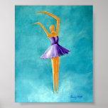 Dancing Ballerina, Purple Posters