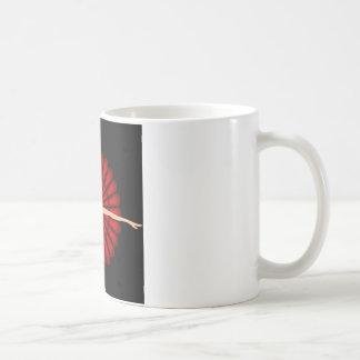dancing ballerina wearing red dress coffee mug